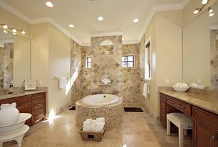 Traditional Master Bathroom with Raised panel, Master bathroom, Undermount sink, Complex Granite, Complex granite counters
