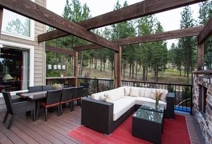 Rustic Deck with Trellis, Deck Railing, Fence, picture window