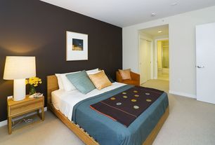 Modern Guest Bedroom with Carpet