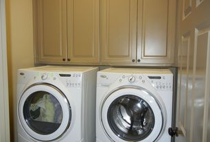 Traditional Laundry Room with Whirlpool Duet High Efficiency Electric Dryer with AccelerCare Drying System (Outlet)