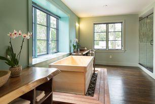 Asian Master Bathroom with Vessel sink, Master bathroom, Live Edge Design - Custom Vanity, Wall sconce, Freestanding