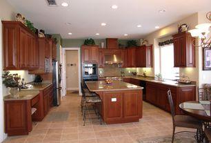 Traditional Kitchen with Simple Granite, Simple granite counters, Breakfast nook, Casement, Vinyl floors, dishwasher