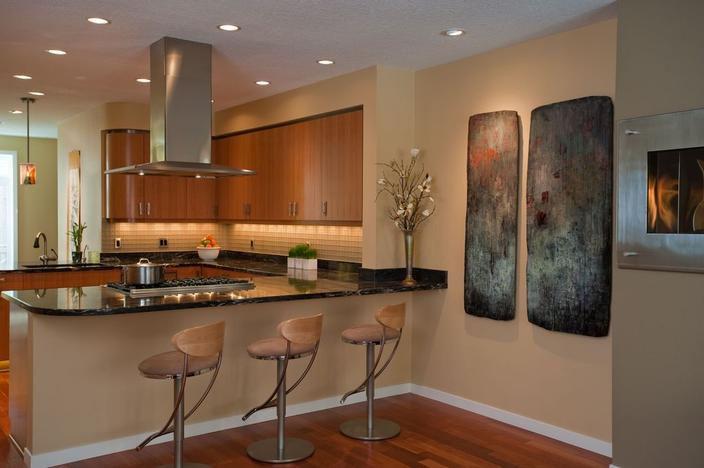 Contemporary Kitchen with Armstrong Flooring - Bronze Cherry
