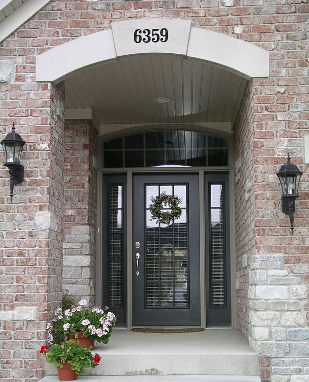 """Traditional Front Door with Kichler 9653bk black madison collection 1 light 20"""" outdoor wall light"""