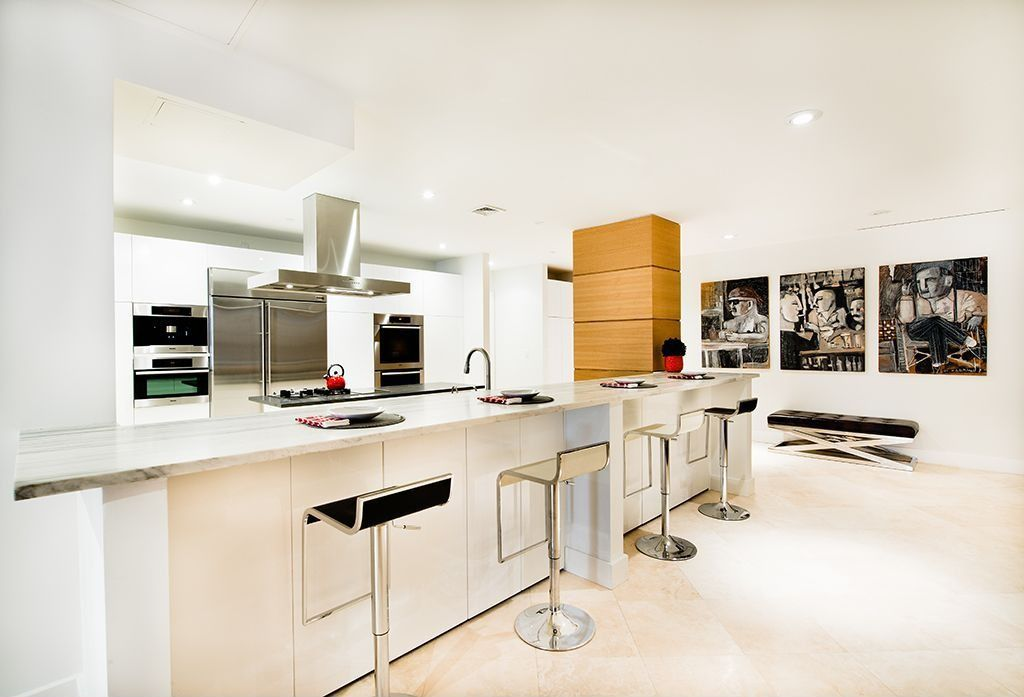 Contemporary Kitchen with European Cabinets