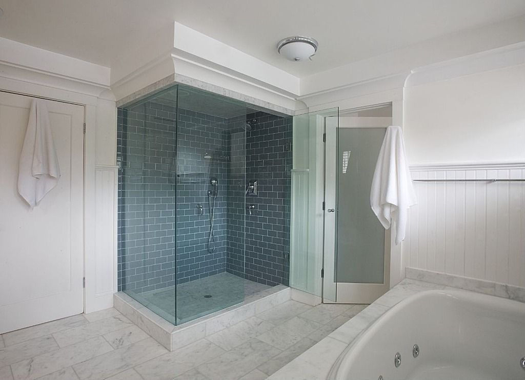 Great contemporary master bathroom zillow digs - Modern subway tile bathroom design interior ...