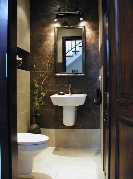 Modern Powder Room with Florida tile - 18x18 floor tile - stone white fti2390210x13