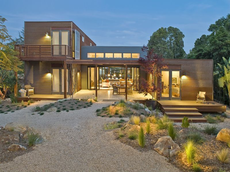 Contemporary Landscape/Yard with Gravel landscape, Indoor/outdoor living