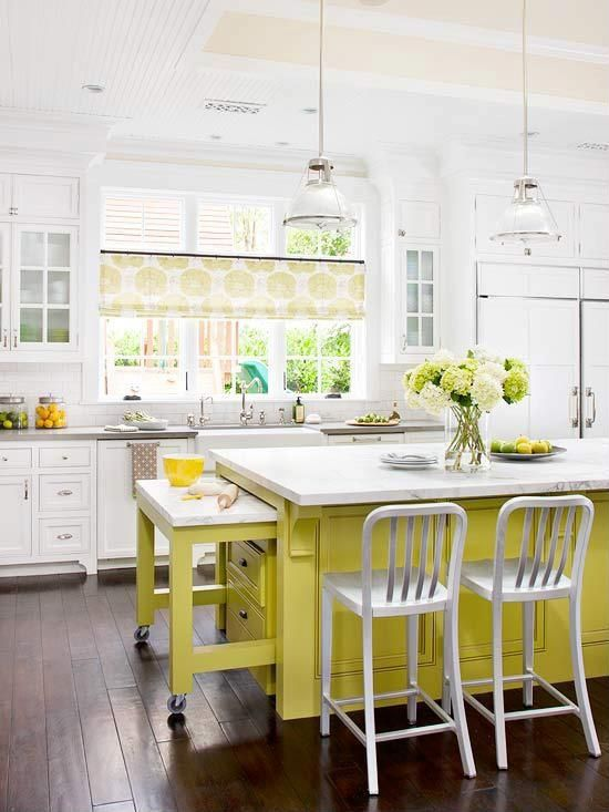 Traditional Kitchen with Subway Tile, can lights, Pendant light, Breakfast bar, Paint, Wood paneled ceiling, Paint 2