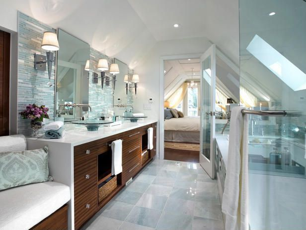 Contemporary Master Bathroom with frameless showerdoor, Bathtub, Pental quartz super white bq200, Vessel sink, Skylight