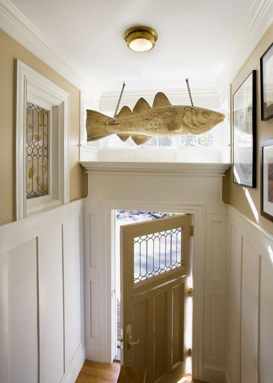 Traditional Entryway with Laminate floors, flush light, picture window, Glass panel door, Crown molding, High ceiling