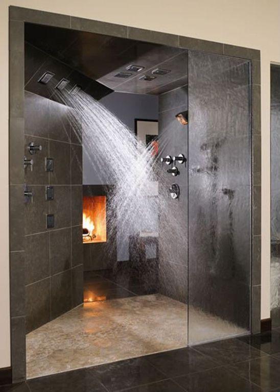 Contemporary Master Bathroom with Paint, Cimmaron sierra glazed porcelain tile