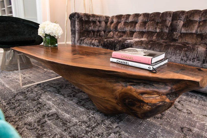 Contemporary Living Room with Groovy stuff teak wood sierra coffee table - tf-730