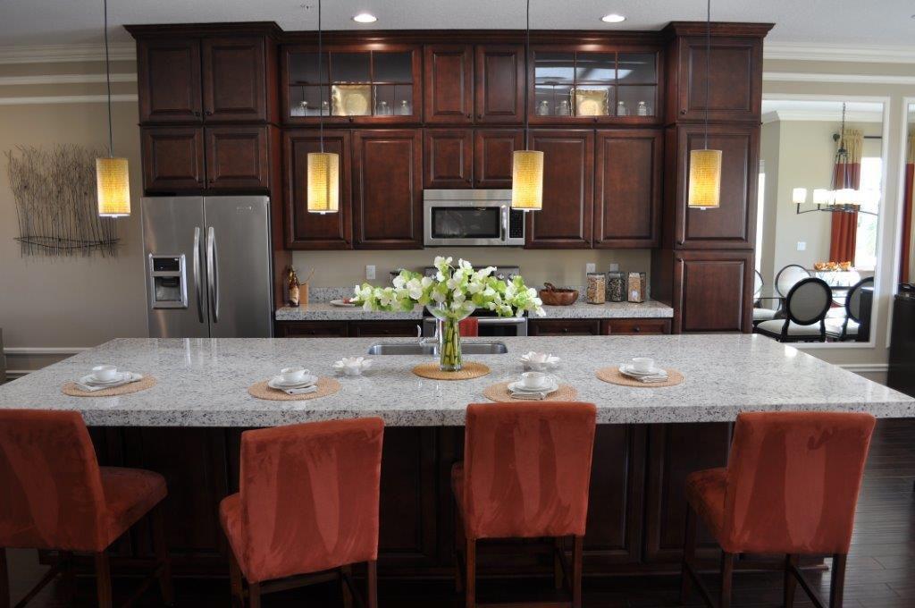 Breakfast Bar, Contemporary, Crown molding, Glass Panel, Granite - simple, Hardwood, Inset, Island, Normal (2.7m), One-wall, Pendant, Raised Panel, Undermount