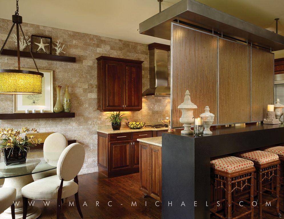 Contemporary Kitchen with Framed Partial Panel, Simple granite counters, Breakfast bar, electric cooktop, Raised panel