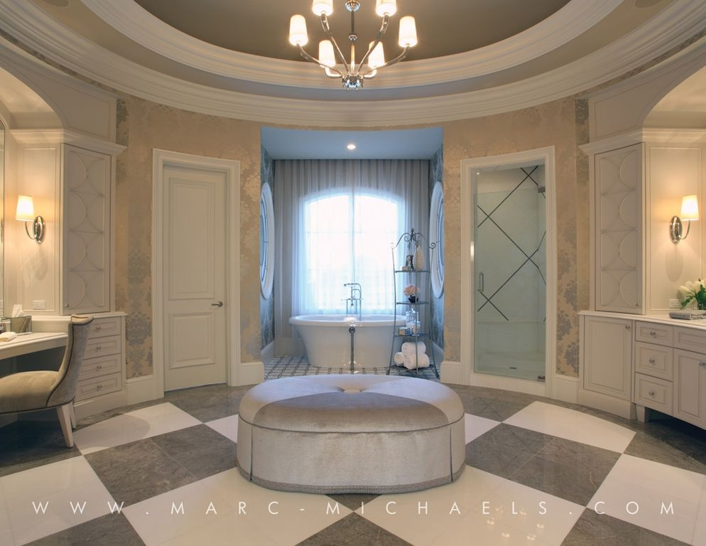 Traditional Master Bathroom With Specialty Door By Marc