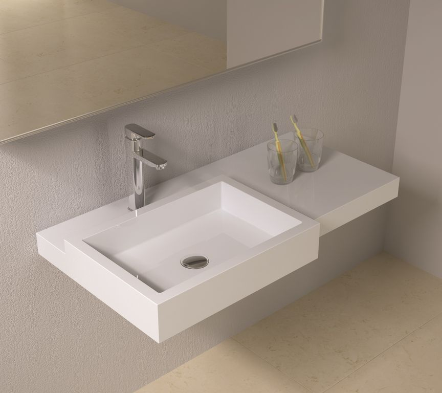 Contemporary Master Bathroom with MS International Sunny Light Limestone Tile, Porcelanosa Mahe Blanco Wall Tile
