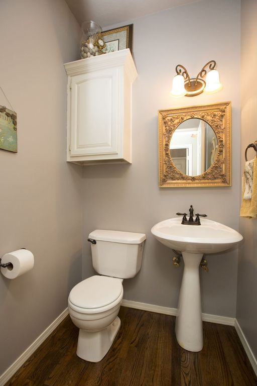 Traditional Powder Room with Toto supreme pedestal bathroom sink with sanagloss, specialty door, Powder room, Flush