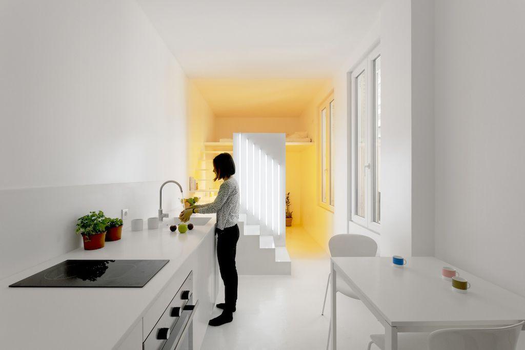 Breakfast Nook, Contemporary, Corian, European, Flush, Modern, Normal (2.7m), One-wall, Undermount