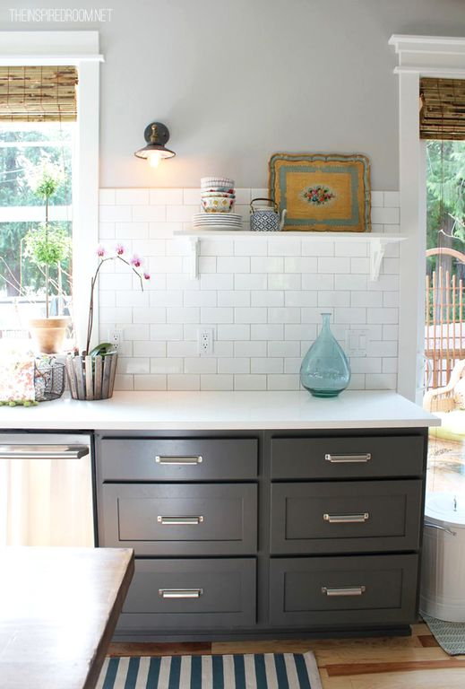 Traditional Kitchen with dishwasher, Flat panel cabinets, Wall sconce, Inset cabinets, French doors, Corian counters