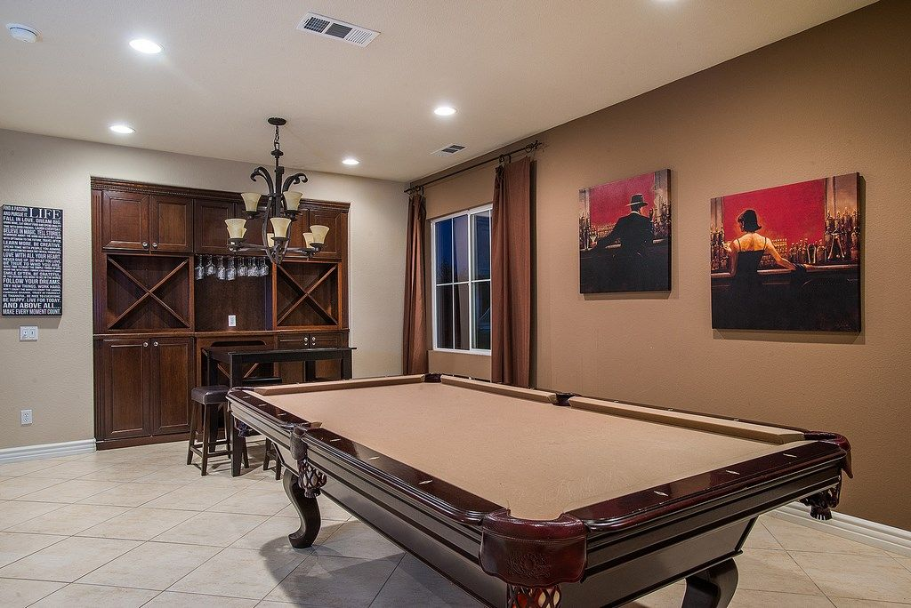 Traditional Game Room with Brent Lynch - Cigar Bar Wall Art, Evening Lounge by Brent