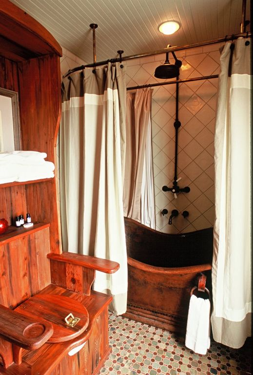 Eclectic Full Bathroom with Throne toilet, composed of bath mirror, hide in water tank and bathroom toilet, Rain shower