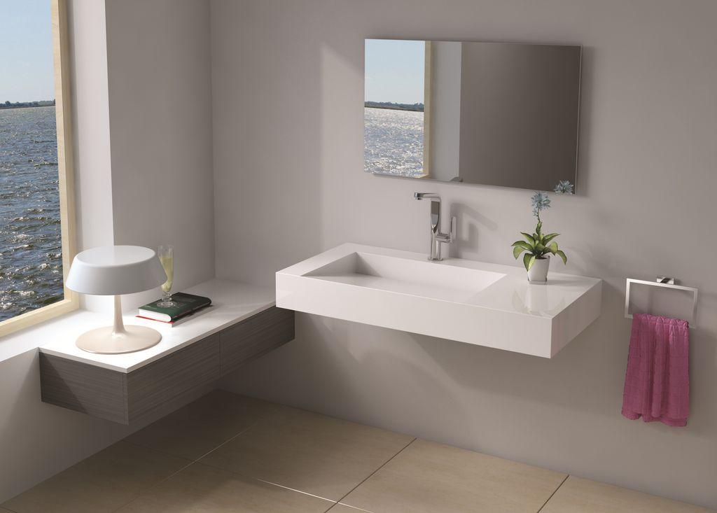 Contemporary Master Bathroom with Undermount bathroom sink, large ceramic tile floors, three quarter bath, Standard height