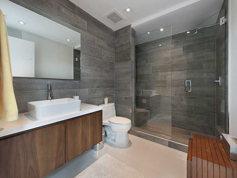 Modern master bathroom with master bathroom frameless for Modern master bathroom