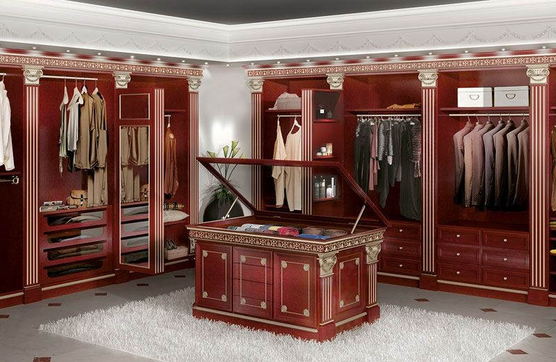 Traditional Closet with Paint 1, simple marble floors, Crown molding, Paint 2, Standard height, Built-in bookshelf