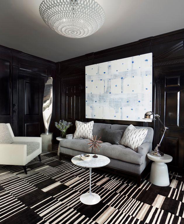 Contemporary Living Room with Pendant light, Jielde Signal Two Arm Desk Light Polished Chrome Twin Arm Desk Lamp Handmade