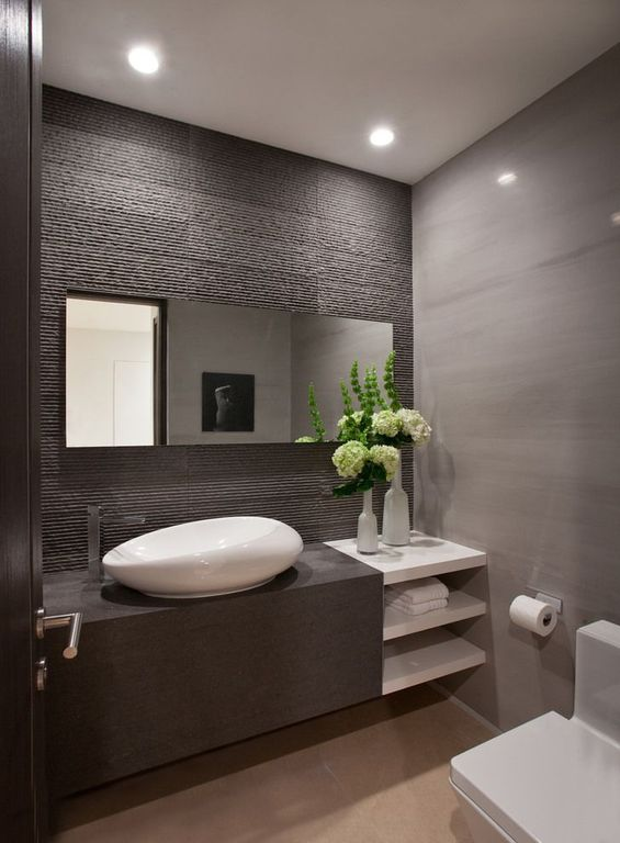 Great Contemporary Powder Room Zillow Digs