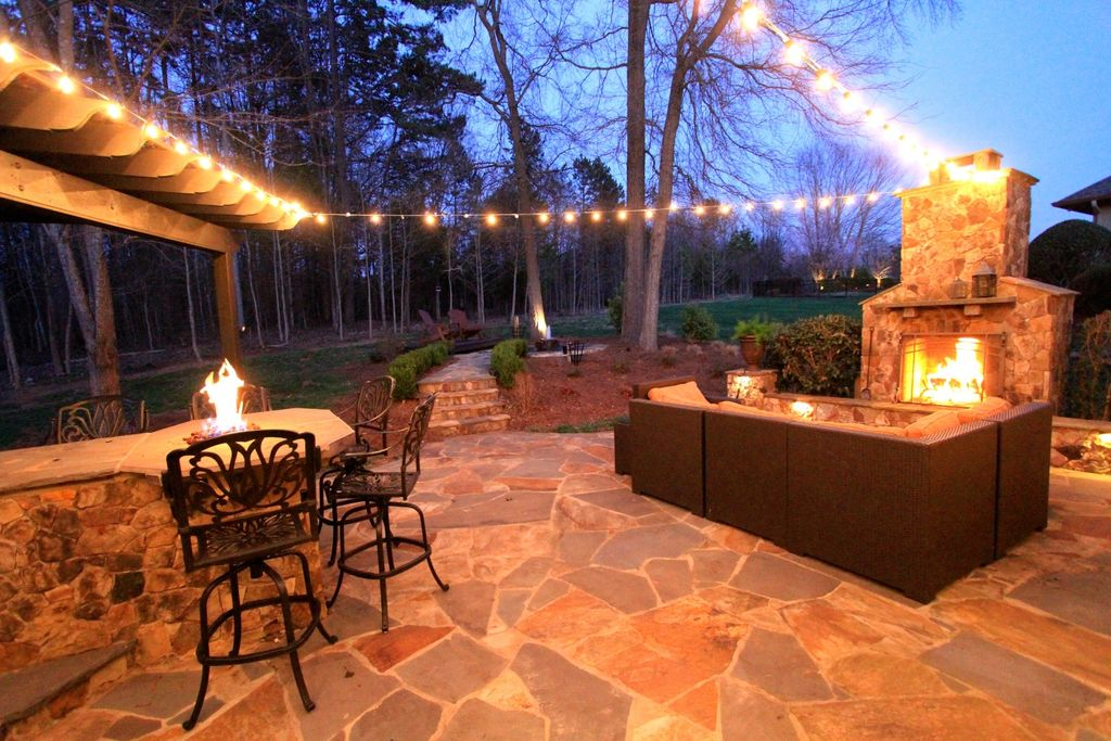 Fire Pit, Pathway, Pizza Oven, Rustic, Stone, Trellis
