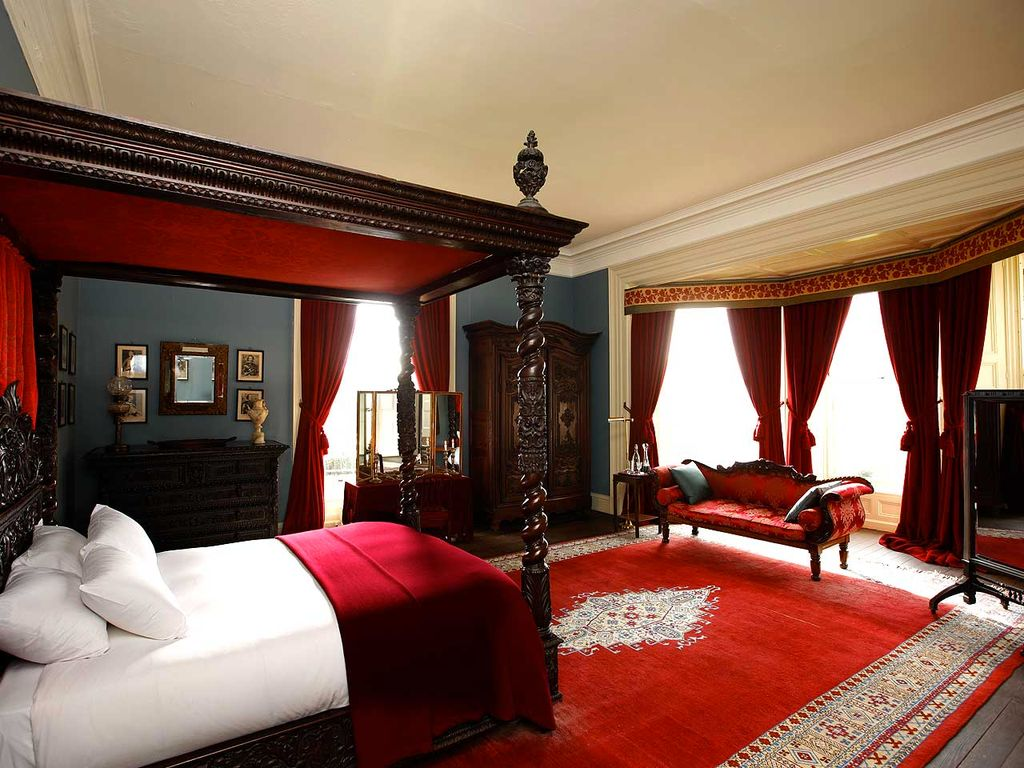 Traditional Master Bedroom with Standard height, picture window, Crown molding, Hardwood floors