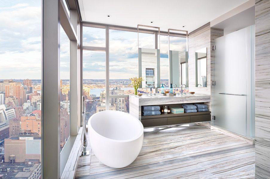Contemporary Master Bathroom with Undermount sink, Master bathroom, Double sink, Freestanding, Bathtub, European Cabinets