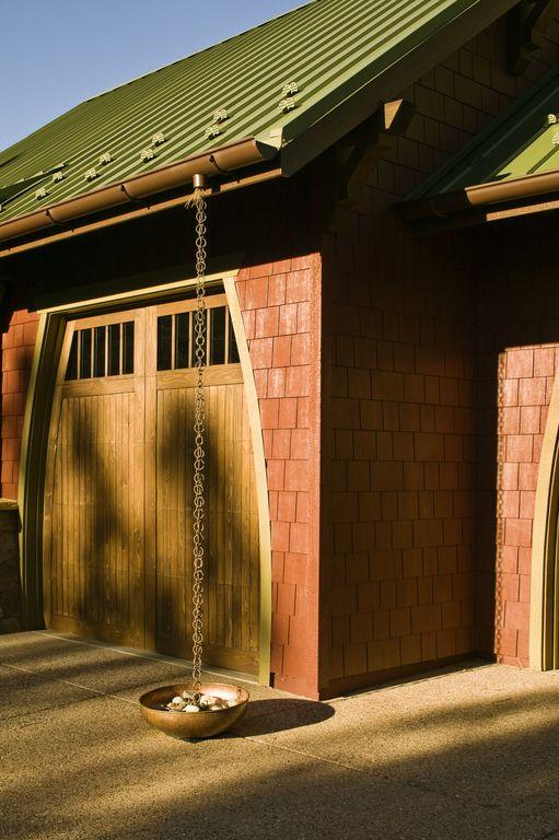 Craftsman Garage with Saloon door, Cathedral ceiling