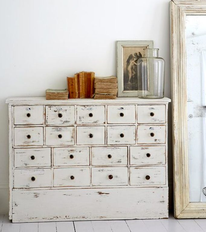 Rustic Living Room with Painted wood floor, Chest of drawers, Paint 1, Pulaski Colton Chest, Standard height, Hardwood floors