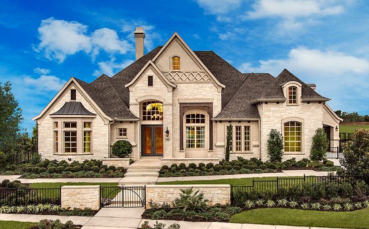 Traditional exterior of home with stone exterior french for Home design zillow
