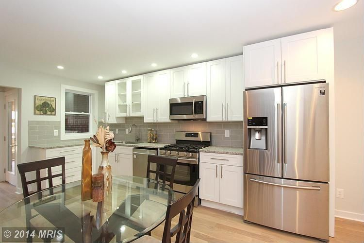 """Contemporary Kitchen with Solid stainless steel bar pull handle for drawer kitchen cabinet hardware 2""""-24"""", Hardwood floors"""