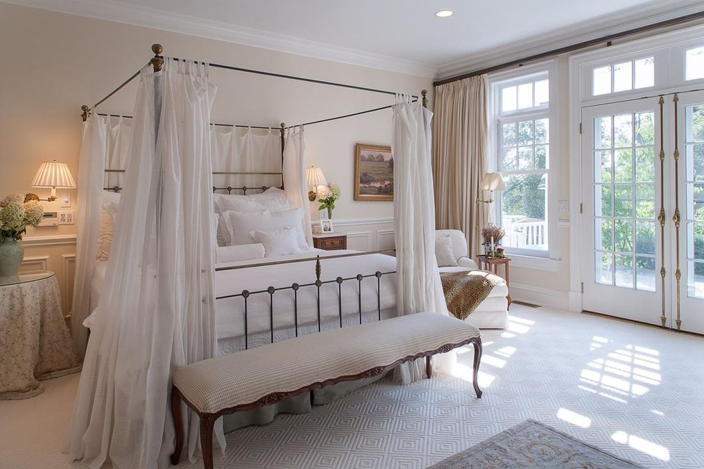 Traditional Master Bedroom with Paint, Wilmette lighting drake traditional restoration wall sconce