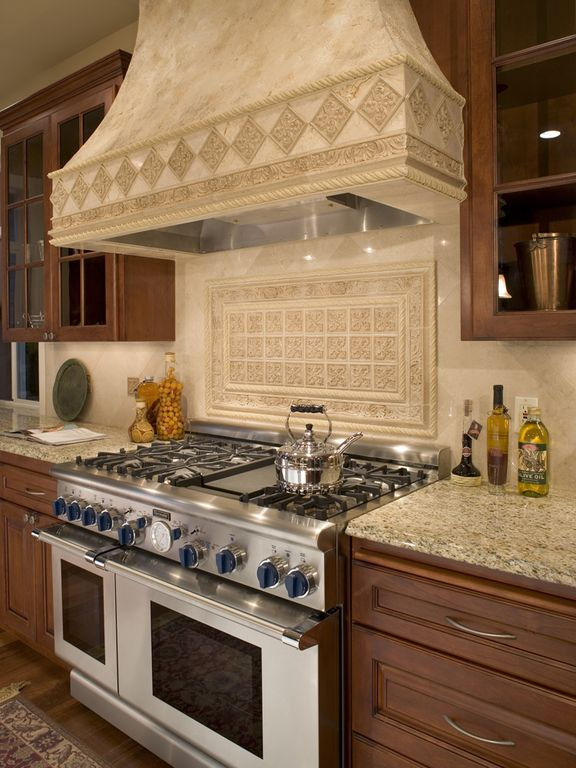 Traditional Kitchen with Ms international tuscany ivory travertine, MS International Granite New Venetian Gold