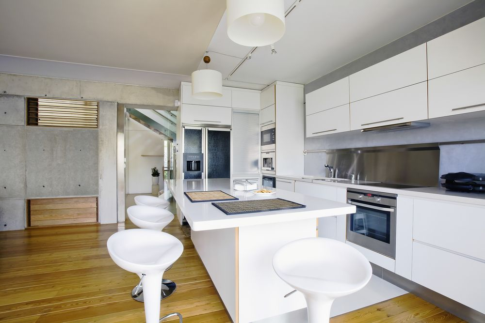 Modern Kitchen With Stainless Steel By Home Stratosphere