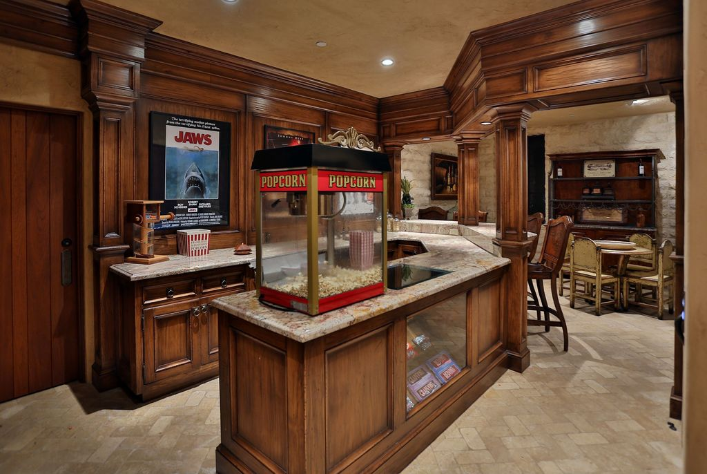 Man Cave Expo Collinsville Il : Traditional man cave with specialty door columns in