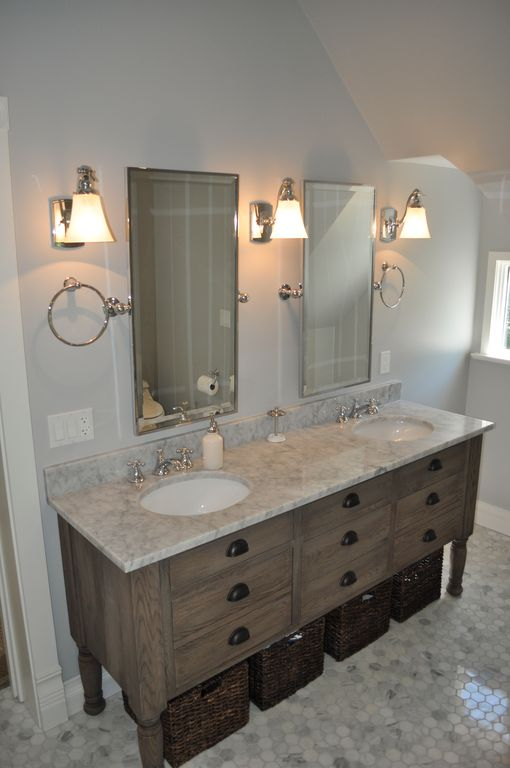 Traditional Full Bathroom with Complex marble counters, Complex Marble, Wall sconce, Standard height, Double sink, Full Bath
