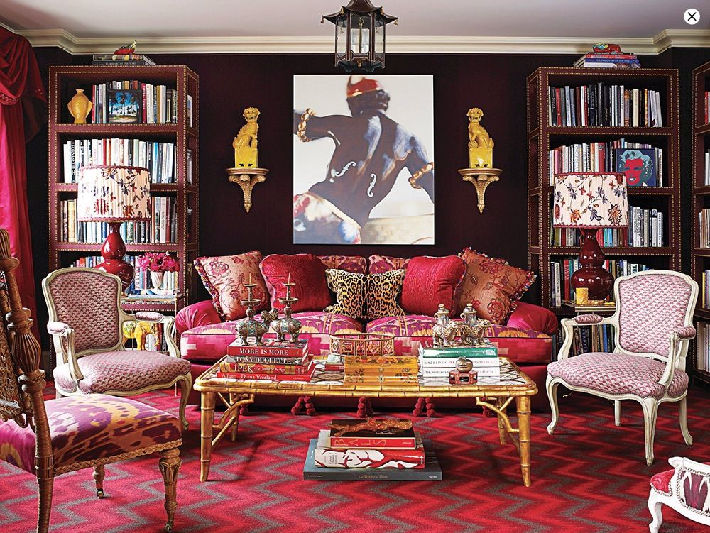Eclectic Living Room with Carpet, Bamboo Coffee Table, Standard height, leopard wild instinct pillow, Pendant light