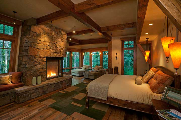 Rustic Master Bedrooms With Fireplaces
