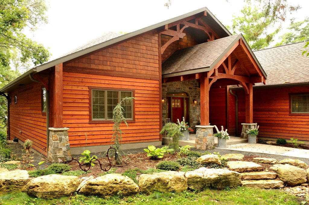Rustic Exterior Of Home By Jg Development Zillow Digs