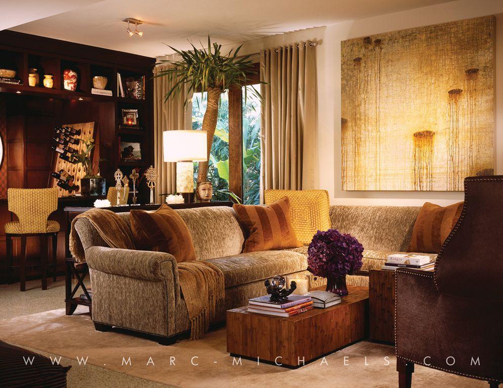 Contemporary Living Room with slate floors, Built-in bookshelf