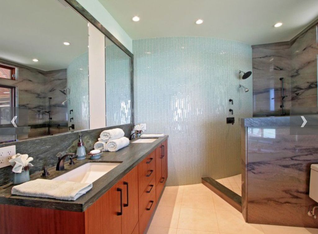 Contemporary Master Bathroom with Standard height, Casement, three quarter bath, no showerdoor, Undermount sink, Shower