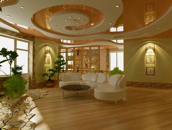 Contemporary room with Hardwood floors, bedroom reading light, Standard height, can lights, picture window, Chandelier