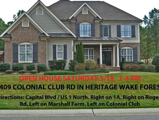1409 Colonial Club Rd, Wake Forest, NC 27587